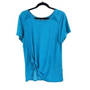 The North Face Short Sleeve Blue Green Hiking Top